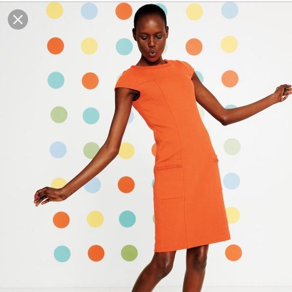 Boden Dresses Orange Summer Ponte Dress Poshmark